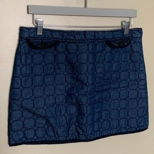 Joe Fresh quilted blue mini skirt size 8